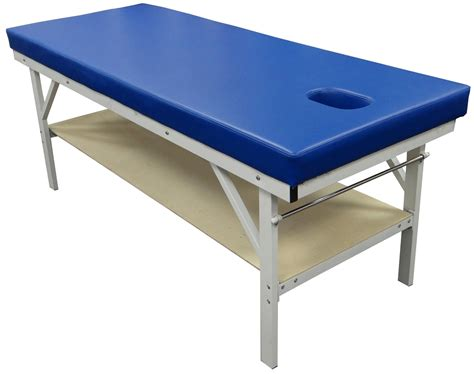 physical therapy treatment table w cut out shelf