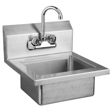 Faucet Warehouse Sauber Stainless Steel Wall Mount Hand Sink With Faucet