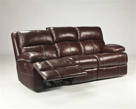 reclining power loveseat signature design lensar reclining power sofa burgundy
