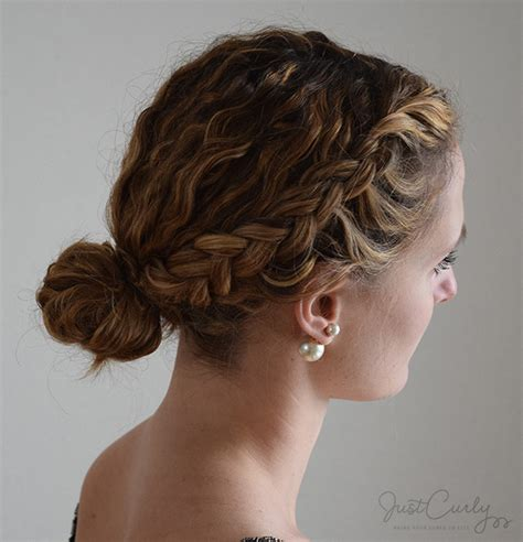 put your hair in a bun with braids styling a dutch braid with curly hair three different ways
