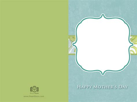 Mothersday Card Template by Free S Day Photo Card Templates Iheartfaces