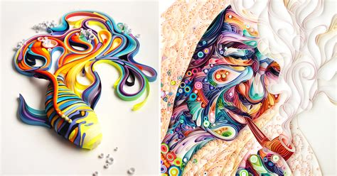 Russian Artist Creates Colorful Illustrations Out Of Colored Drawings