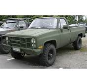 Chevrolet 1983 K30 M1008 Cucv Us Army Pickup  The History Of Cars