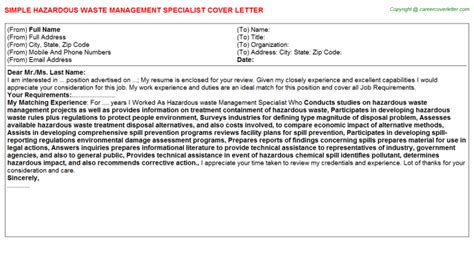 Hazardous Materials Specialist Cover Letter by Passport Specialist Cover Letters Sles Descriptions And Duties