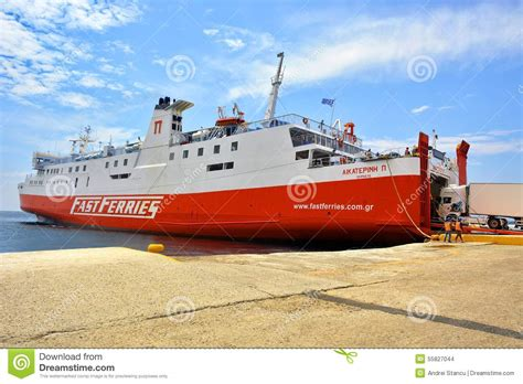 fast boats to greek islands ferry boat in greece editorial stock image image 55827044