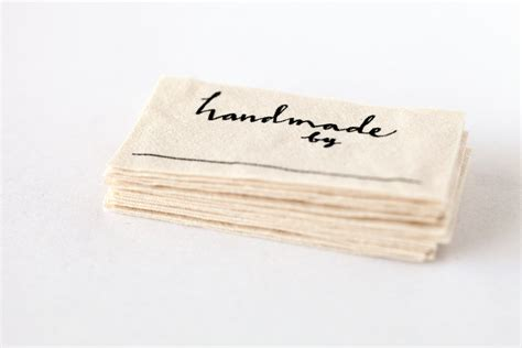 Handmade Sewing Labels - handmade by labels knitting crochet or sewing labels