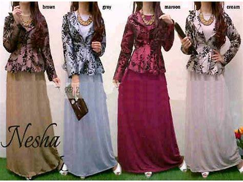 Longdress Bludru 292754 fashion butiq