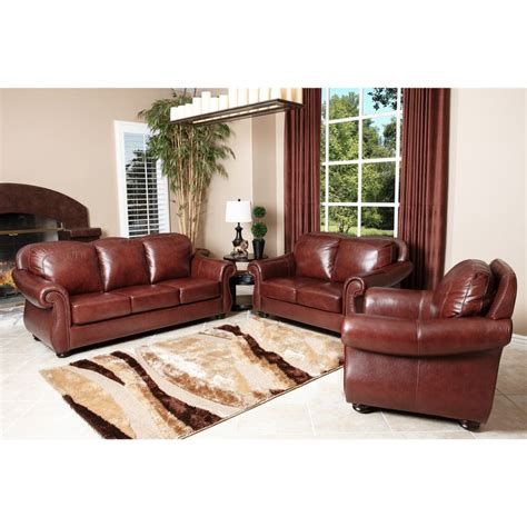 semi aniline leather sofa abbyson living houston semi aniline leather sofa loveseat and armchair by abbyson italian