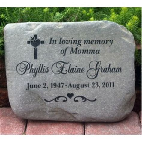 custom engraved garden memorial stone medium