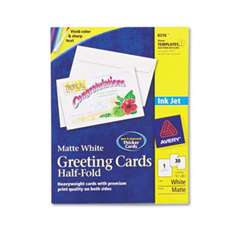 Avery Card Templates Half Fold by Printer