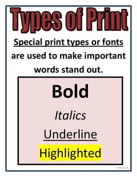 non printable fonts non fiction unit continued