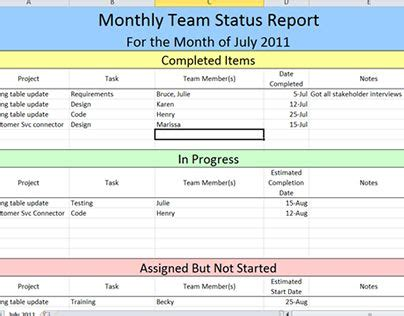 Work Status Report Template Excel Check Out New Work On My Behance Portfolio Quot Project