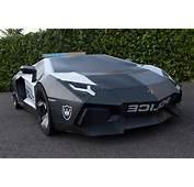 Scale Lamborghini Aventador Police Car Made From Paper  Diseno