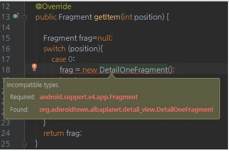 layoutinflater inflater getlayoutinflater error incompatible types detailonefragment cannot be convert