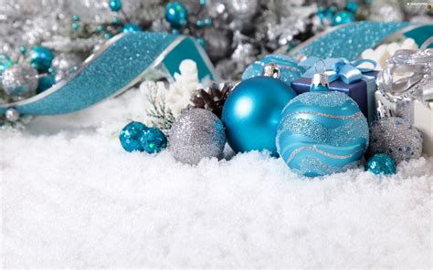 ribbon turquoise christmas baubles decoration for