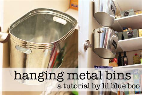 Hanging Kitchen Storage by Hanging Metal Storage Bins