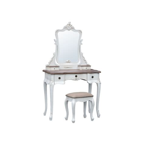 appleby soft white dressing table with stool forever