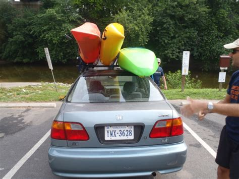 Roof Rack For Two Kayaks by Harpers Ferry Paddling Trip June 22 23 2012