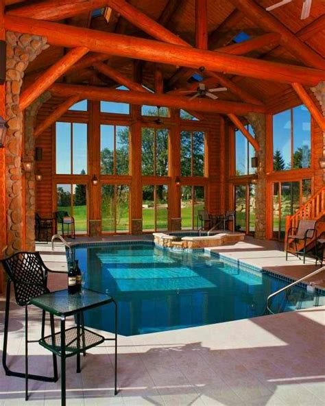 cottages with room and swimming pool log cabin indoor pool never hurts a to