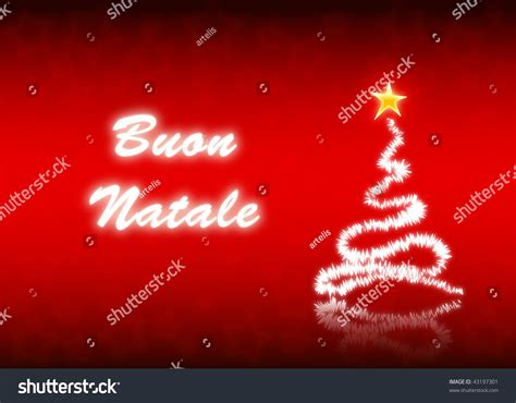 merry in italian merry postcard italian language stock