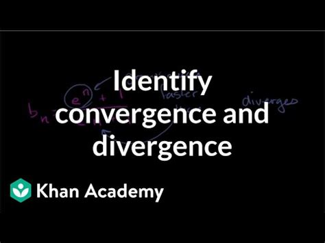 worked example: sequence convergence/divergence | series