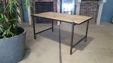 bureau bois et fer bureau en fer et vieux bois vieux ch 234 ne de r 233 cup 233 ration