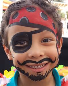 Pics photos parties clown face paint pirate birthday