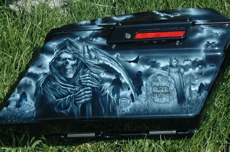 airbrushed motocross black sabbath motorcycle design airbrush painted by bad