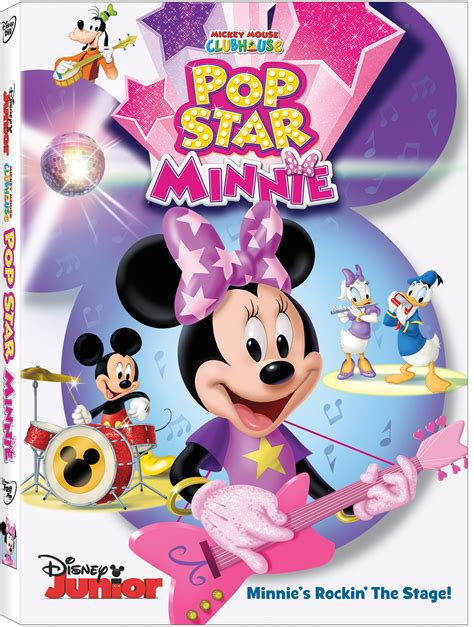 minnie mouse play house upcoming dvd release mickey mouse clubhouse pop star minnie february 2 2016