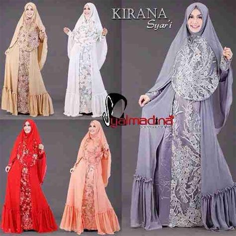 Gamis Pesta Busui Friendly gaun pesta muslim model gamis kirana syar i syalmadina