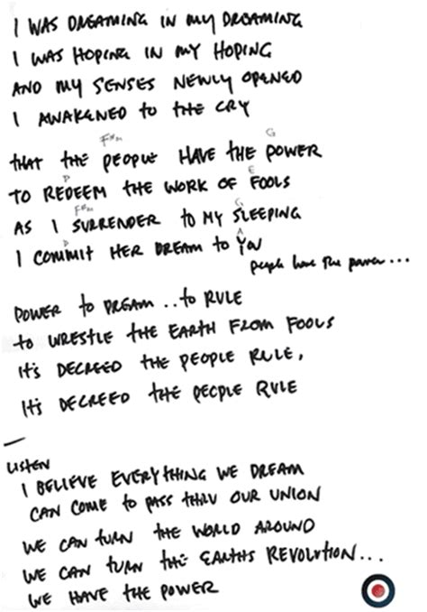 Pearl Jam Garden Lyrics by Five Horizons Tour Memorabilia For Pearl Jam