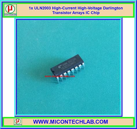 high voltage high current transistor 1x uln2003 high current high voltage darlington transistor arrays ic chip