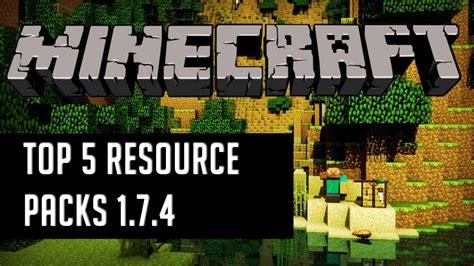 best resource pack minecraft top 5 best minecraft texture packs resource packs 1 7 4