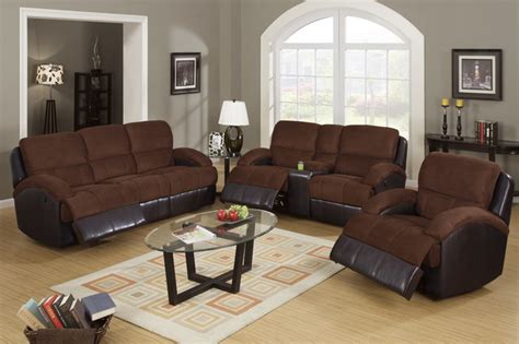 Microfiber Reclining Sofa Sets by Chocolate Microfiber Leather Reclining Sofa Loveseat Power