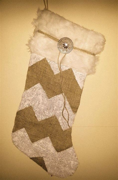 pattern for burlap christmas stockings my selfmade burlap christmas stocking i just love the