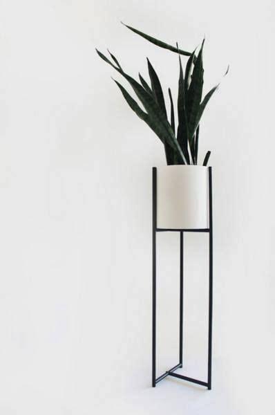 blomastandur planter table minimalist home decor black