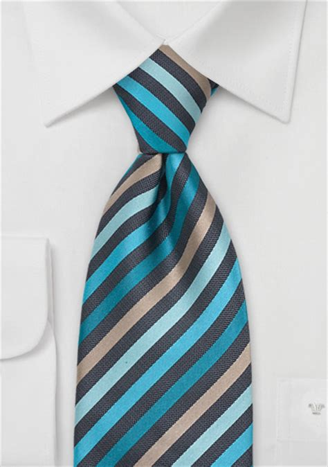 striped tie in teal gray ties shop stripes