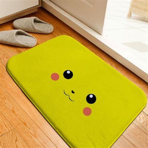 floor mats for bathroom bath mat cartoon pokemon pikachu printing rug toilet carpet flannel non slip absorbent shower