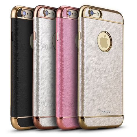 Casing Hp Ipaky 3 In 1 Gold Iphone 7 ipaky plating leather coated tpu back phone casing for