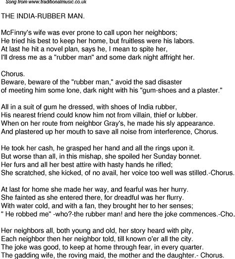 song lyrics india old time song lyrics for 32 the india rubber man