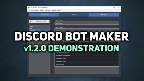 discord youtube notification bot discord bot maker v1 2 0 update demonstration youtube