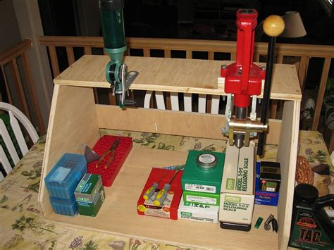 mobile reloading bench home made tool stations portable reloading stand