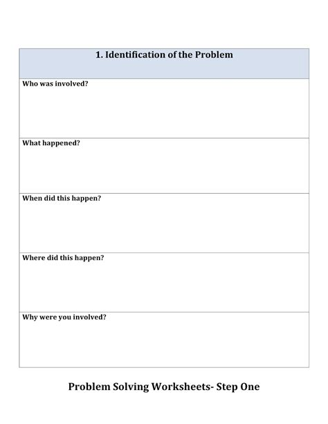 Problem Solving Worksheets by Peachy Speechie Problem Solving Sheets
