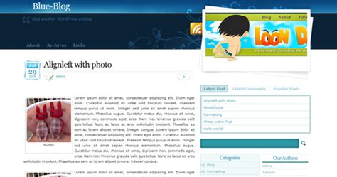 theme blog blue 30 most impressive free wordpress business themes updated