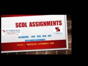 Mba From Scdl by Scdl Assignments 2016 All Courses All Batches Pgdit Mba