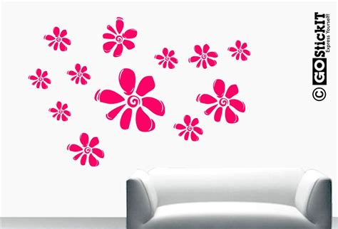flower stickers for wall wall flower stickers for interior exterior doors