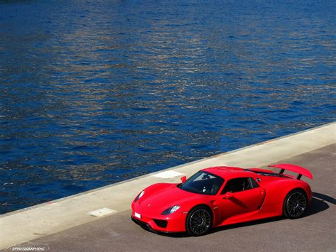 red porsche 918 stunning red porsche 918 spyder photoshoot in monaco