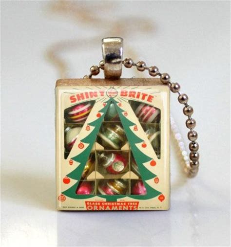 christmas jewelry shiny brite vintage ornaments retro