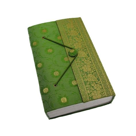 Somebody Notebook Green handmade large sari journal by paper high notonthehighstreet