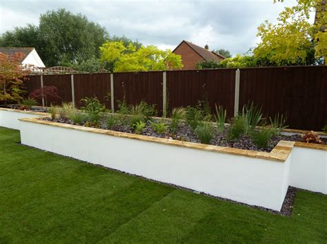 white garden walls garden walls and retaining walls george gardens